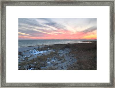 Monomoy National Wildlife Refuge Cape Cod Sunset Framed Print by John Burk