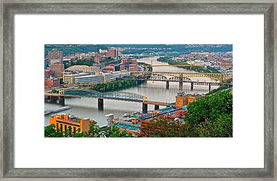 Monongahela Bridges Framed Print by Frozen in Time Fine Art Photography