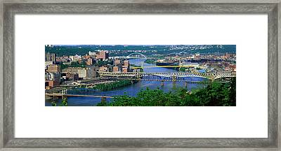 Monongahela River Pittsburgh Pa Usa Framed Print by Panoramic Images