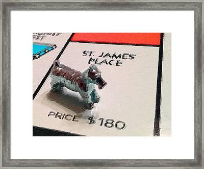 Monopoly Board Custom Painting St James Place Framed Print by Tony Rubino
