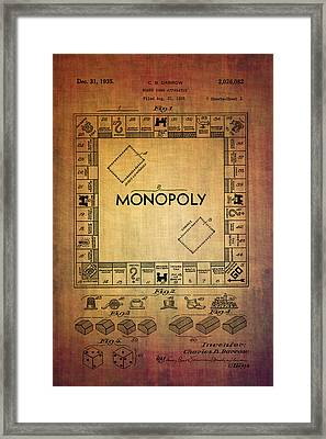 Monopoly Board Game Apparatus From 1935  Framed Print by Eti Reid