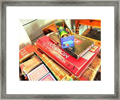 Framed Print featuring the photograph Monopoly-board-games by Michael Hope