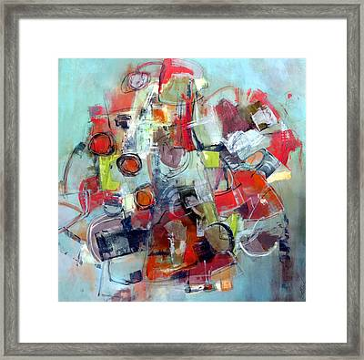 Framed Print featuring the painting Monopoly by Katie Black