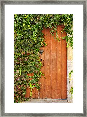Monpazier Door Framed Print