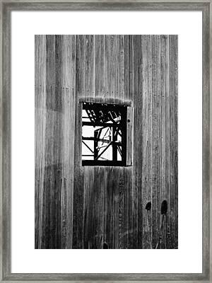 Framed Print featuring the photograph Monroe Co. Michigan Barn Window by Daniel Thompson