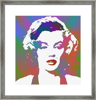 Monroe Goes Pop Framed Print by Steve K
