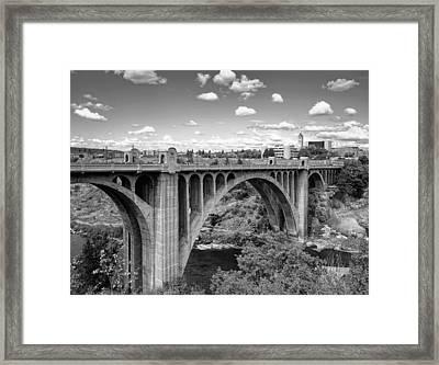 Monroe St Bridge 6 B W Framed Print