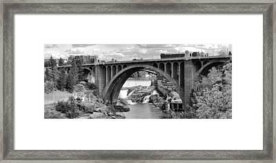 Monroe St Bridge Of Spokane Framed Print
