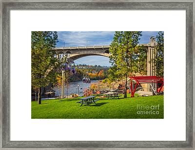 Monroe Street Dam Framed Print by Inge Johnsson