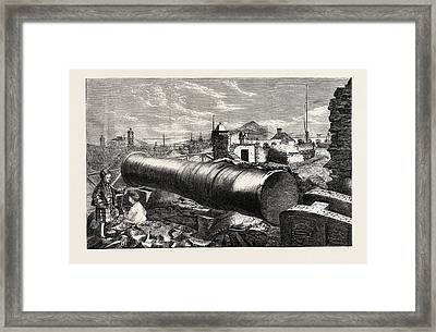 Mons Meg, Edinburgh Castle, Scotland, Uk Framed Print