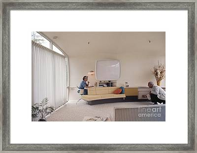 Monsanto House Of The Future At Disneyland 1961 Interior Framed Print by The Harrington Collection