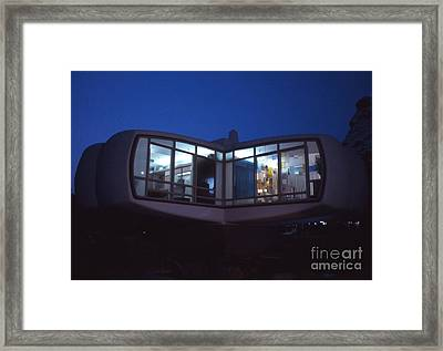 Monsanto House Of The Future At Disneyland At Night 1961 Framed Print by The Harrington Collection