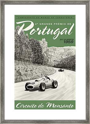 Monsanto Portugal Grand Prix 1959 Framed Print by Georgia Fowler