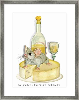 Monsieur Mouse Framed Print by Anne Beverley-Stamps