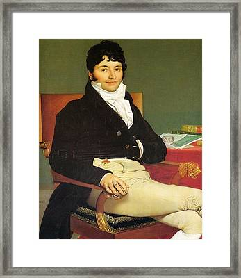 Monsieur Riviere Framed Print by Jean-Auguste-Dominique Ingres