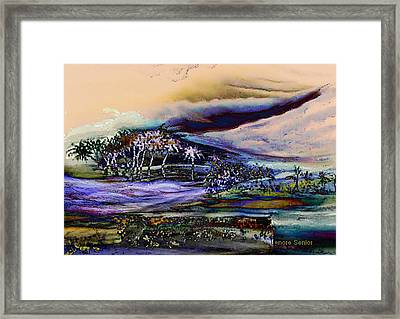 Monsoon 2 Framed Print by Lenore Senior