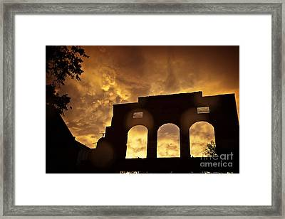 Monsoon Clouds And The La Victoria In Jerome Az Framed Print