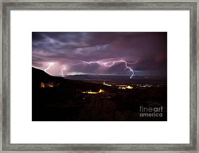 Monsoon Lightning Jerome Framed Print