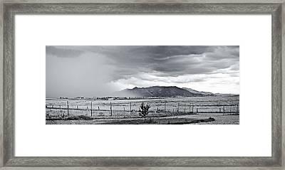Monsoon Rain Framed Print by Swift Family