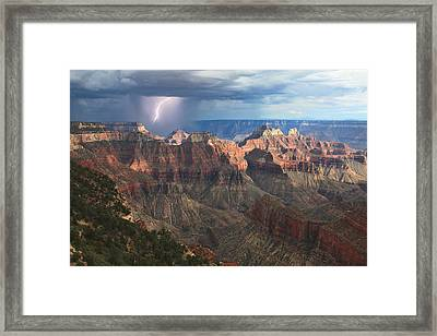 Monsoon Sunset Framed Print by Mike Buchheit