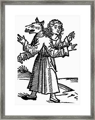 Monster, 1493 Framed Print by Granger
