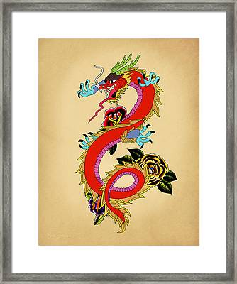 Monster Dragon  Framed Print