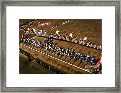 Monster Energy Ama Supercross  450sx Main Framed Print