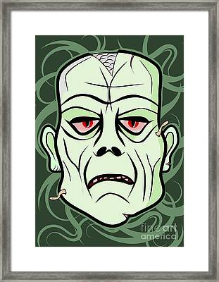 Monster Head Framed Print