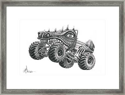 Monster Truck Framed Print by Murphy Elliott