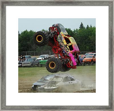 Monster Trucks Size Matters 2 Framed Print by Bob Christopher