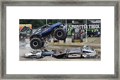 Monster Trucks Size Matters 4 Framed Print by Bob Christopher