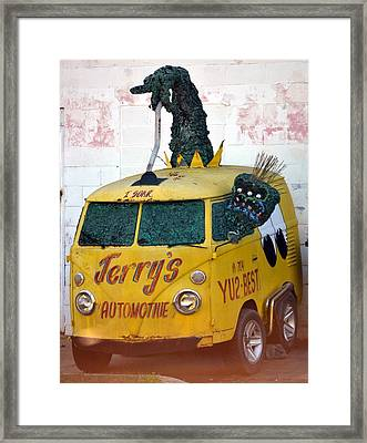Monster Van Framed Print by Gustave Kurz