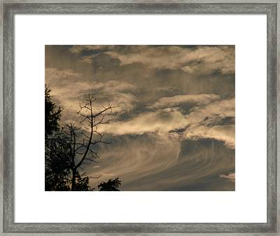 Framed Print featuring the photograph Monster Wave by Marie Neder