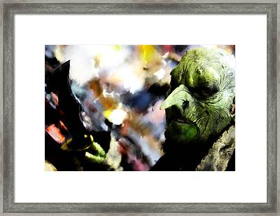 Monster With Big Nose  Framed Print by Tommytechno Sweden