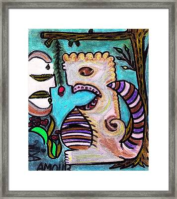Monsters Love Life Too Framed Print by Lois Picasso
