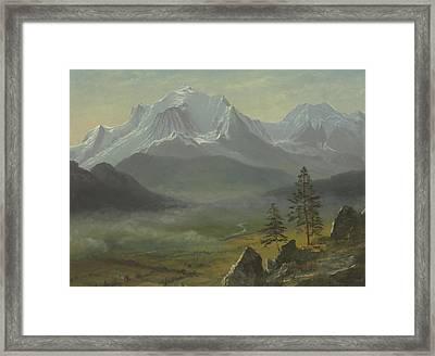 Mont Blanc Framed Print by Albert Bierstadt