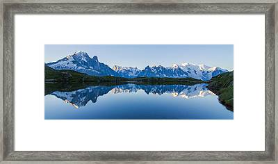 Mont Blanc Massif Panorama Framed Print