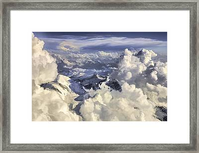 Framed Print featuring the painting Mont Blanc by Muhie Kanawati