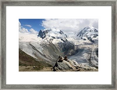 Mont Cervin Duckies Framed Print by Juan Romagosa