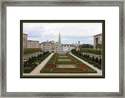 Mont Des Arts Towards The Grand Place Framed Print