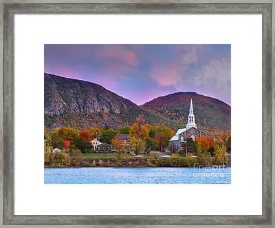 Mont-saint-hilaire Quebec On An Autumn Day Framed Print by Laurent Lucuix