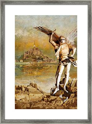 Mont-saint-michel And Its Bay Framed Print