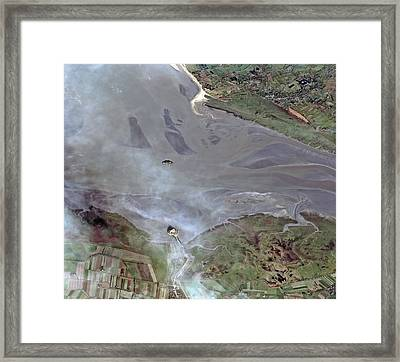 Mont Saint-michel Bay Framed Print by European Space Agency/cnes 2012/astrium Services/spot Image