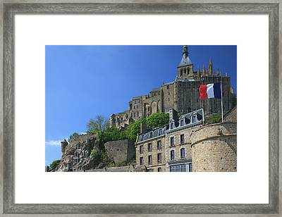 Mont Saint-michel Is An Island Commune Framed Print by Mallorie Ostrowitz