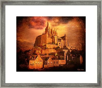 Mont Saint-michel Framed Print by Kylie Sabra