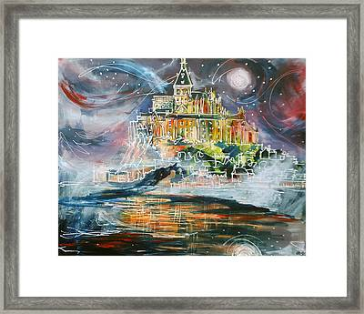 Mont Saint Michel Framed Print by Laura Hol Art
