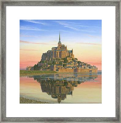 Mont Saint-michel Morn Framed Print by Richard Harpum