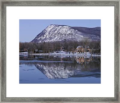 Mont St. Hilaire At Dusk Framed Print