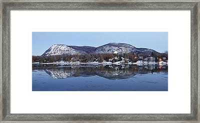 Mont St. Hilaire Mirror Image Framed Print