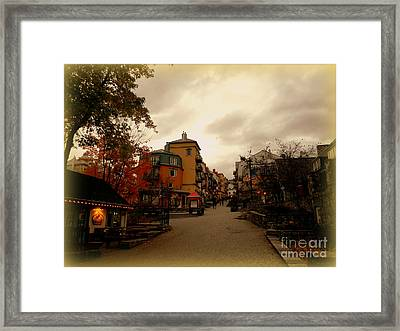 Framed Print featuring the photograph Mont Tremblant by Elfriede Fulda